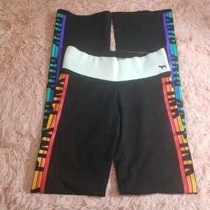 Pink by Victoria secret rainbow yoga pants size XS